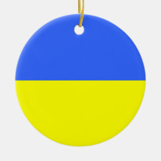 Flag of Ukraine Round Ceramic Decoration