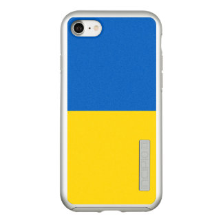 Flag of Ukraine Silver iPhone Case