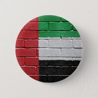 Flag of United Arab Emirates 6 Cm Round Badge