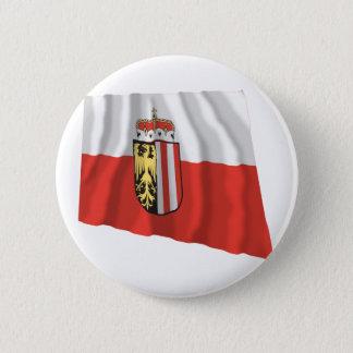 Flag of Upper Austria 6 Cm Round Badge