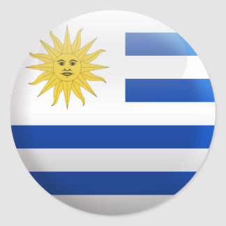 Flag of Uruguay Classic Round Sticker