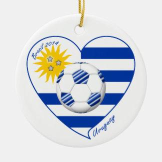 Flag of URUGUAY SOCCER champions of world 2014 Ornament