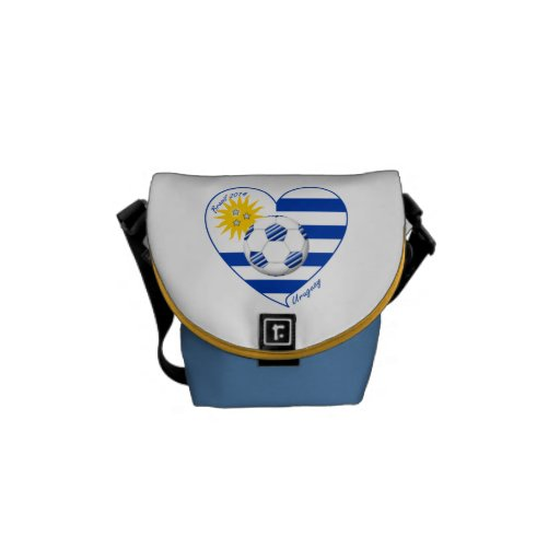 Flag of URUGUAY SOCCER champions of world 2014 Messenger Bag