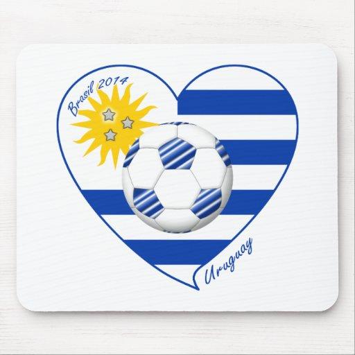 Flag of URUGUAY SOCCER champions of world 2014