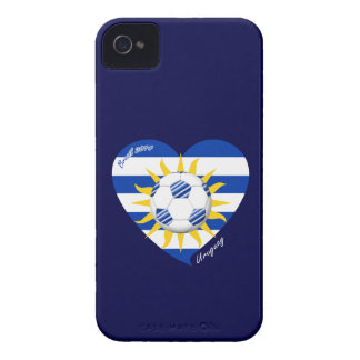 Flag of URUGUAY SOCCER national team 2014 iPhone 4 Case-Mate Cases