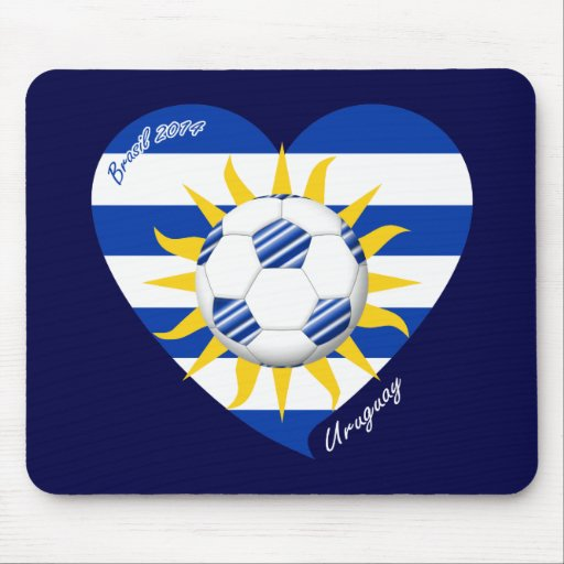 Flag of URUGUAY SOCCER national team 2014 Mouse Pads