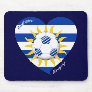 Flag of URUGUAY SOCCER of national team 2014 Mousepad