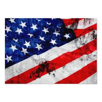 Flag Of USA 5x7 Paper Invitation Card