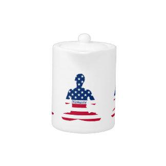 Flag of USA meditation American yoga