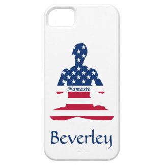 Flag of USA meditation American yoga Case For The iPhone 5