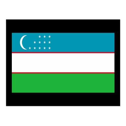 Flag of Uzbekistan Post Cards