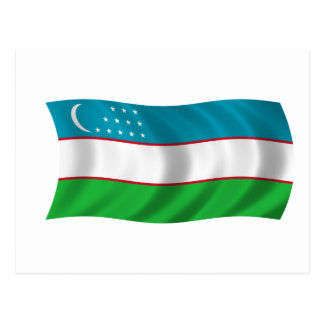 Flag of Uzbekistan Post Cards