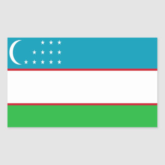 Flag of Uzbekistan Rectangular Sticker