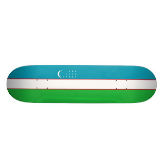 Flag of Uzbekistan Skateboard Deck