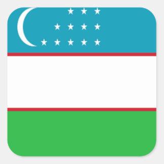 Flag of Uzbekistan Square Stickers
