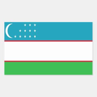 Flag of Uzbekistan Rectangular Sticker