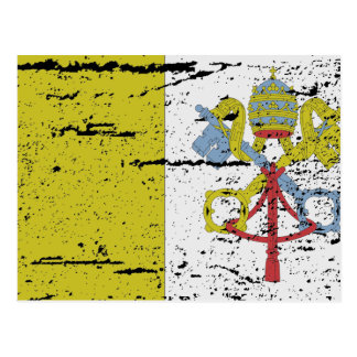 FLAG OF VATICAN CITY POSTCARD