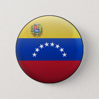 Flag of Venezuela 6 Cm Round Badge