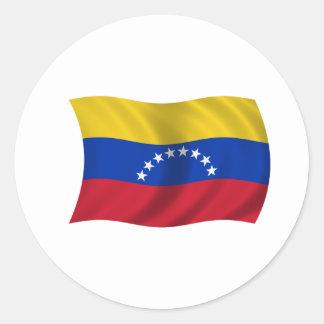 Flag of Venezuela Classic Round Sticker