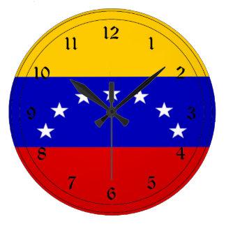Flag of Venezuela Large Clock