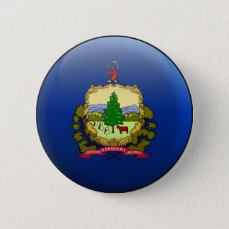 Flag of Vermont 6 Cm Round Badge