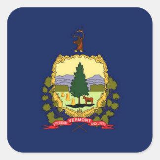 Flag of Vermont Square Sticker