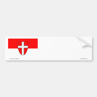 Flag of Vienna, Austria Bumper Sticker