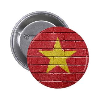 Flag of Vietnam 6 Cm Round Badge