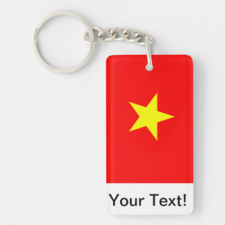 Flag of Vietnam Double-Sided Rectangular Acrylic Key Ring