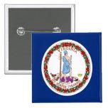 Flag of Virginia Pinback Button