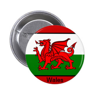 Flag of Wales 6 Cm Round Badge