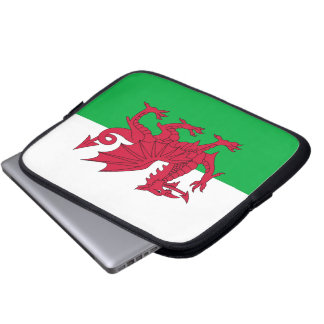 Flag of Wales Laptop Computer Sleeves