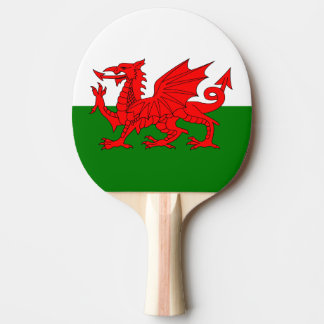 Flag of Wales Ping Pong Paddle