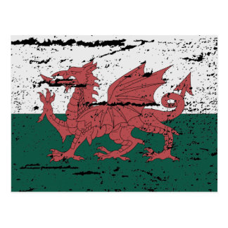 FLAG OF WALES POSTCARD