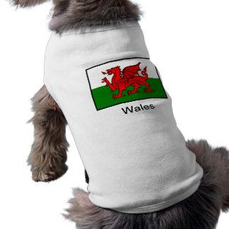 Flag of Wales Sleeveless Dog Shirt