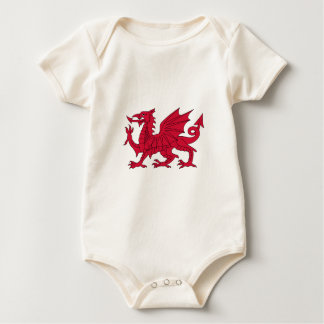Flag of Wales - The Red Dragon - Baner Cymru Baby Bodysuit
