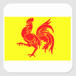 Flag of Wallonia Square Sticker