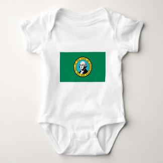 Flag of Washington State Baby Bodysuit