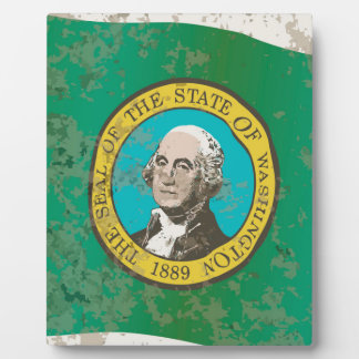 Flag of Washington State Photo Plaque