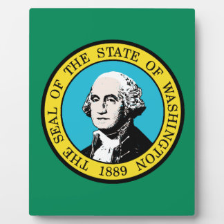 Flag of Washington State Plaque