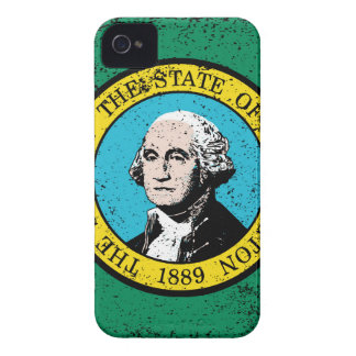 Flag of Washington State With Grunge iPhone 4 Cover