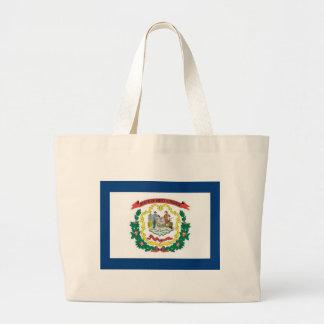 FLAG OF WEST VIRGINA TOTE BAG