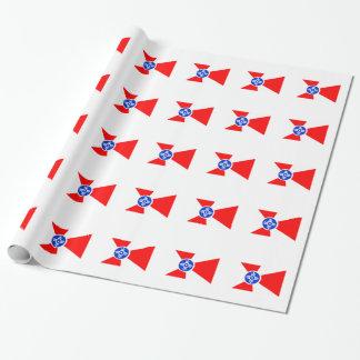 Flag of Wichita Kansas Wrapping Paper