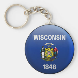 Flag of Wisconsin Key Ring