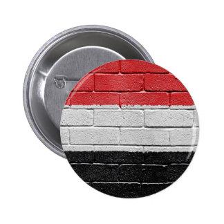 Flag of Yemen 6 Cm Round Badge