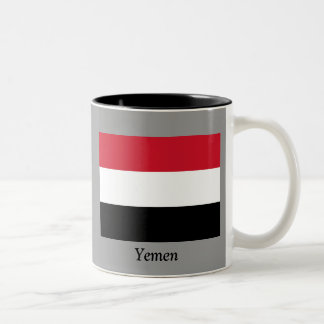 Flag of Yemen Two-Tone Coffee Mug