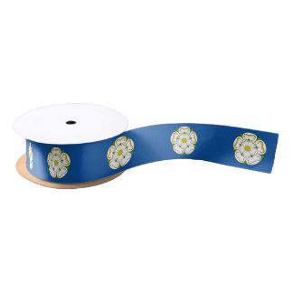 Flag of Yorkshire Satin Ribbon