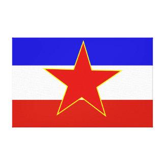 Flag of Yugoslavia Canvas Prints