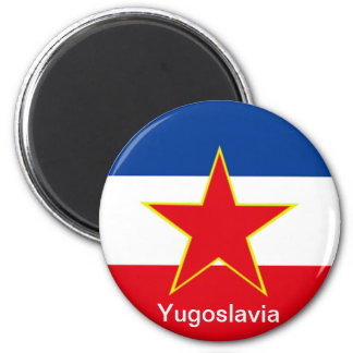 Flag of Yugoslavia 6 Cm Round Magnet