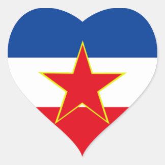 Flag of Yugoslavia Heart Sticker